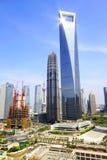 Schang-Hai SWFC e torretta del Jin Mao Immagini Stock
