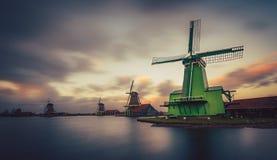 Schans Zaandam Нидерланды Zaanse мельницы Стоковая Фотография