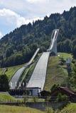 Schansspringentoren Garmisch Partenkirchen Stock Foto's