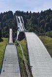 Schansspringentoren Garmisch Partenkirchen Royalty-vrije Stock Afbeeldingen
