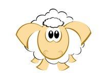 Schapen - beeldverhaal - leuke schapen Stock Afbeeldingen