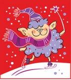 Schapen die - Nieuwjaar 2015 schaatsen Royalty-vrije Stock Fotografie