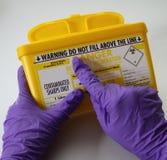 Scharf-Behälter-WARNING Lizenzfreies Stockbild