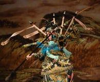 """Scharfe Augen und bewegliche Hand- oder flinke Frauen-Generäle Finger Pekings Opera"""" von Yang Familyâ-€  Lizenzfreies Stockfoto"""