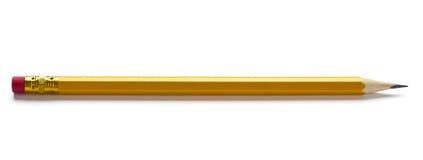 Scharfer Bleistift getrennt Stockfotografie