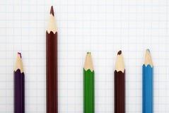 Scharfer brauner Bleistift Lizenzfreie Stockfotos