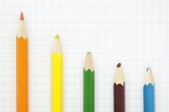 Scharfer orange Bleistift Lizenzfreie Stockbilder