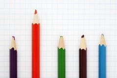 Scharfer roter Bleistift Lizenzfreies Stockbild