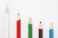 Scharfer weißer Bleistift Stockfotos