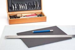 Scharfes Messer und Schneidwerkzeuge Lizenzfreies Stockbild