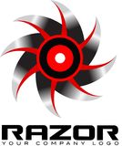 Scharfes sah Logo Stockbilder