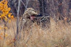 Scharfschütze im Gras Stockfoto