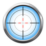 Scharfschützebereichfadenkreuz stock abbildung
