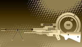 Scharfschützegewehr mit Bereich Stockfotos