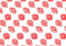 Scharlachrot Lippen stock abbildung