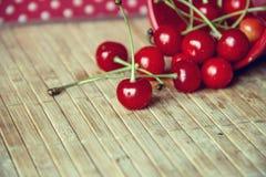 Scharlakansröd körsbär Arkivfoto