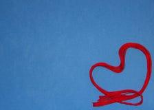 Scharlaken hart Stock Fotografie