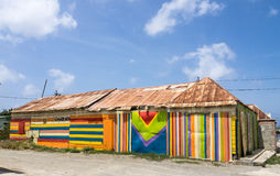 Scharloo striped wooden  building Royalty Free Stock Photos