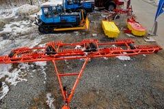 Scharnierend materiaal voor tractor Tyumen Rusland stock afbeelding