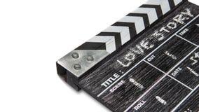 Scharnierventilbrett auf weißer Hintergrund Titel-Liebesgeschichte Lizenzfreies Stockbild