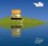 Schat op eiland Royalty-vrije Stock Afbeelding