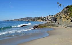 Schateiland en Victoria Beaches in Laguna Beach, Caalifornia royalty-vrije stock afbeeldingen