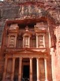 Schatkist in Petra Stock Foto's