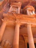 Schatkist in Petra Stock Afbeelding