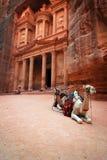 Schatkist in Petra royalty-vrije stock afbeeldingen