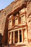 Schatkist in Petra, Jordanië Stock Afbeelding
