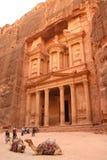 Schatkist in Petra, Jordanië Royalty-vrije Stock Afbeelding