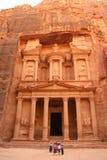 Schatkist in Petra, Jordanië Royalty-vrije Stock Foto