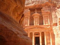 Schatkist, Siq, Petra, Jordanië Stock Foto