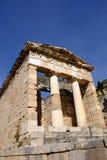 Schatkist van Athenians, Delphi, Griekenland royalty-vrije stock afbeeldingen