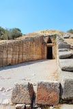 Schatkist van Atreus in Mycenae royalty-vrije stock foto's