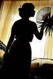 Schatten-Abbildung der orientalischen Frau Lizenzfreie Stockfotografie