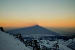 Schatten in Aconcagua Stockfotografie
