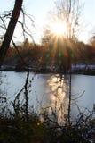 Schatten auf dem Eis Lizenzfreie Stockfotografie