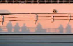 Schatten auf dem Sonnenuntergang Lizenzfreies Stockfoto