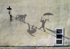Schatten auf der Wand Lizenzfreies Stockbild