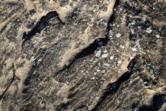 Schatten auf einem Block des Sandsteins Stockfotografie