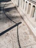 Schatten auf einer Brücke Lizenzfreies Stockfoto