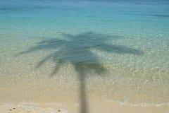 Schatten auf Meer Stockbild
