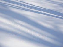 Schatten auf Schnee Stockbild