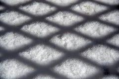 Schatten auf Schnee Lizenzfreies Stockfoto