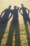 Schatten auf Strand Lizenzfreie Stockbilder
