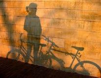 Schatten auf Wand Stockbild