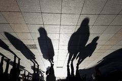 Schatten aus den Grund Stockfoto