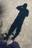 Schatten der Fotografie als Selbstporträt lizenzfreie stockfotos