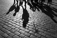 Schatten der Leute Stockbild